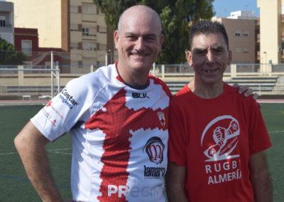 Miguel Palanca y jugador URA CLAN